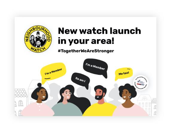 New Neighbourhood Watch Launch In Your Area Postcards