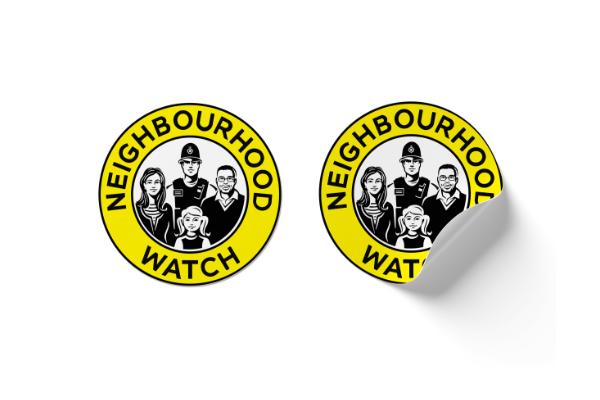 Derbyshire neighbourhood watch house stickers