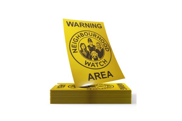 Derbyshire neighbourhood watch dustbin stickers
